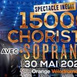 Soprano en concert au Vélodrome avec 15.000 choristes