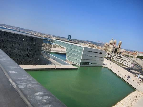 Le point de vue du MUCEM sur notre dame de la garde Marseille