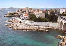 Quartier de la Corniche à Marseille